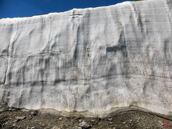 Snow on side of road Kyrgyzstan 2