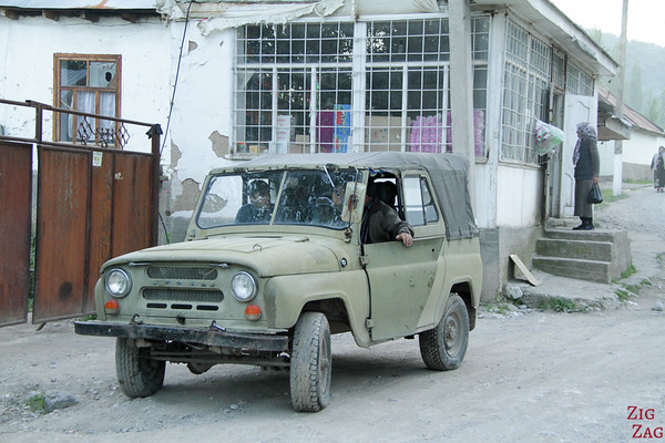 old 4WD car in Kyrgyzstan 3