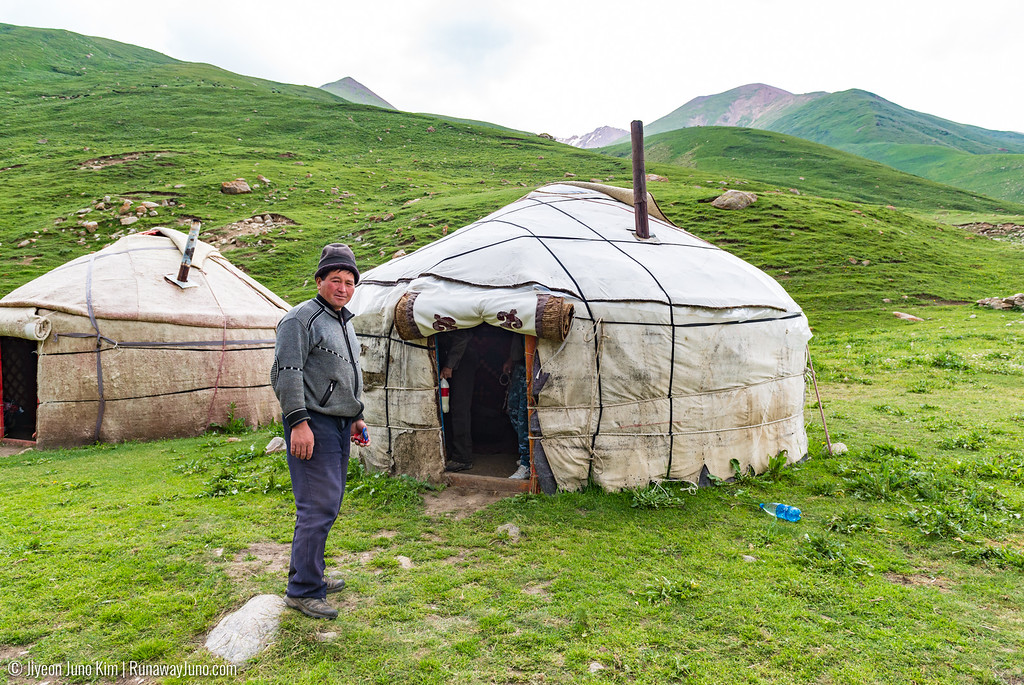 Our host of the yurt