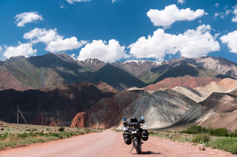 Heading SE from the south side of Aybuu Pass - Kyrgyzstan