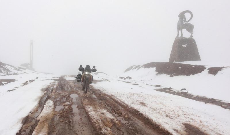 Crossing the Kyzyl-Art Pass from Tajikistan to Kyrgyzstan