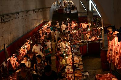 Bishkek's meat market, Kyrgyzstan