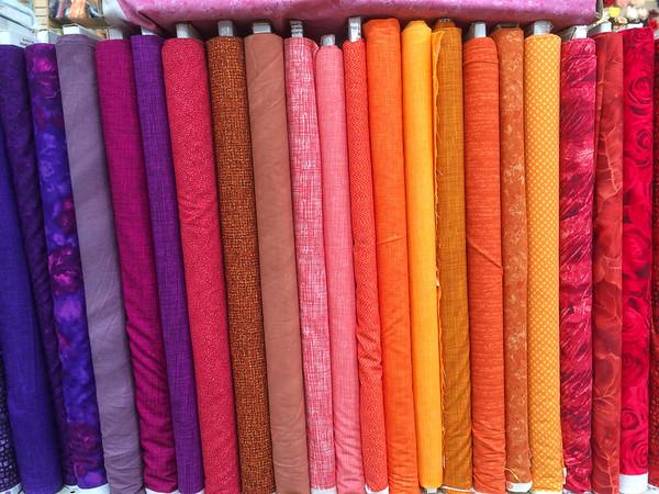 LA Fashion District Fabric shopping
