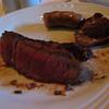 Ribeye, sausage, and top sirloin