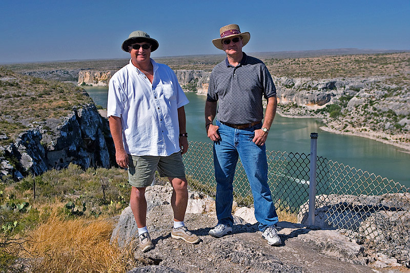 MIKE AND CARL ON THE PECOS
