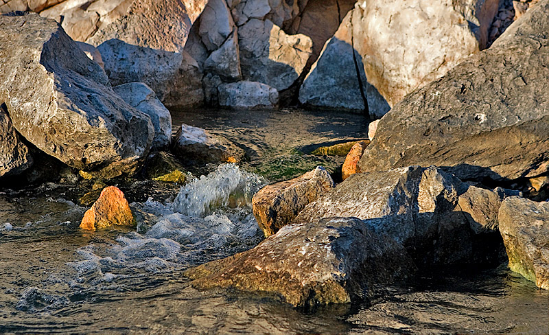 SPRING FLOWING INTO THE DEVIL'S RIVER