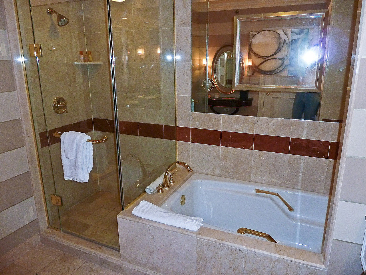 SHOWER AND TUB-VENETIAN HOTEL