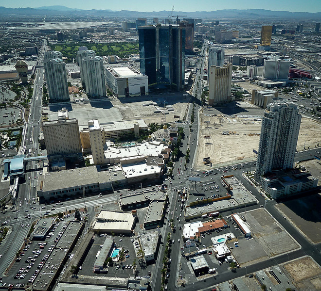 "VIEW OF THE ""STRIP"" FROM THE STRATOSPHERE"