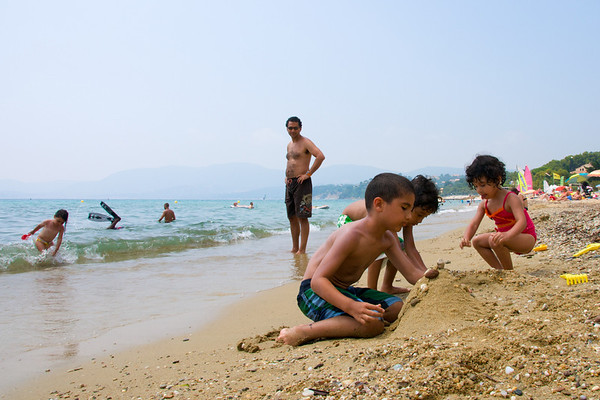 Kids on the beach.