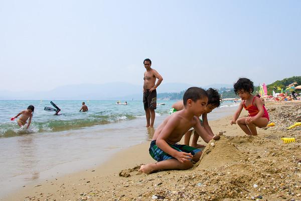 Kids on the beach.