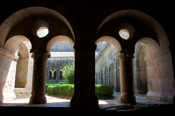 Looking out into the central courtyard.