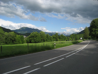 The Start of the alps, great roads and dry