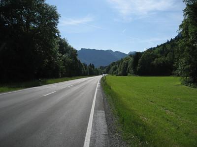 Beautiful quiet roads through beautiful scenery in Austria