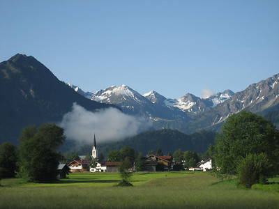 Obersdorf in Southern Germany, i camped and it rained very heavy all night! lovely next morning when this picture was taken
