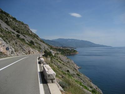 working down the Croatian coast road
