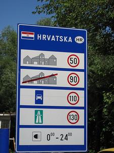 Crossing into Croatia