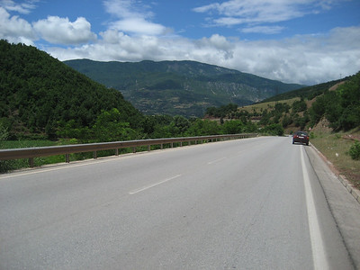 Albania now has some superb roads, it is now rare that you find a bad section. If you do i guarantee the road making equipment will be close by and they will be about to lay a new road.