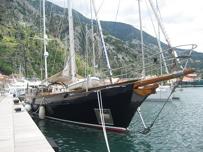 Some fabulous yachts moored up in Kotor Town