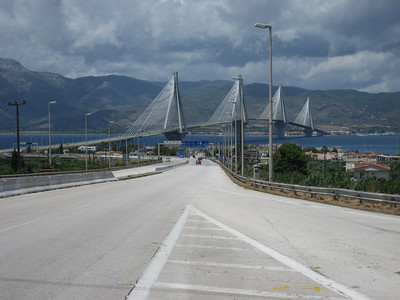 Now back on the road again and heading home. Patras bridge, very good looking design in my opinion