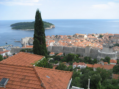 Looking down on the old Town Dubrovnik