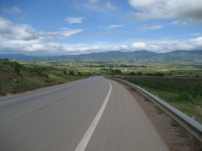 Now into Albania, look at the road quality !!!!! Superb