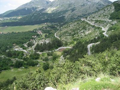 Cetinje, Kotor Road in Montenegro