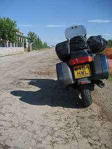 Terrible road from Skhoder to border it went on like this for about 60 miles 1st and 2nd gear again. However nearly all of the roads in Albania are now very good quality