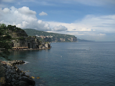 Coming into Naples, Italy