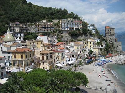 The beautiful Amalfi Coast just south of Naples