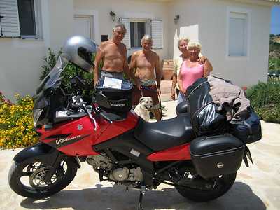 Ready for the Off, back to Britain my trusty DL650 Suzuki V Strom, a really good bike