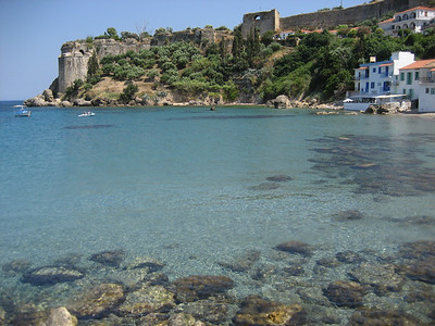 Crystal clear waters in Koroni