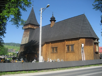 Heading towards Slovakia in Southern Poland, All Wooden church