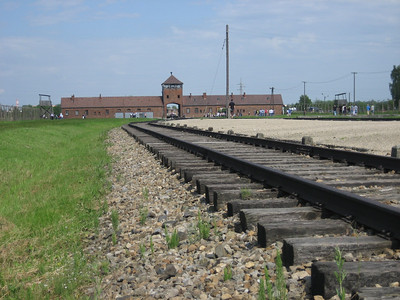 The railway line to Aushwitz-Birkenau death camp many people travelled this line never to return.