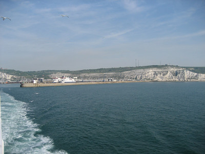 I normally get a picture coming into Dover but this time i was a bit late for the ferry, so i took a picture of the white cliffs as i left