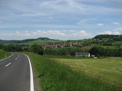Working across the middle of Germany towards the western Czech Republic border