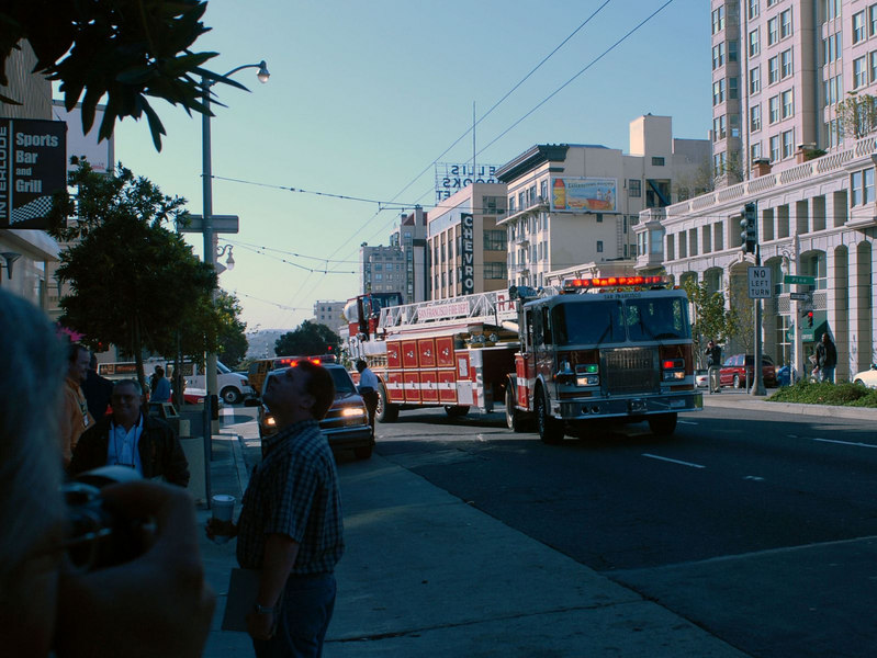 The San Francisco Fire Department interupted the conference due to a faulty fire alarm.