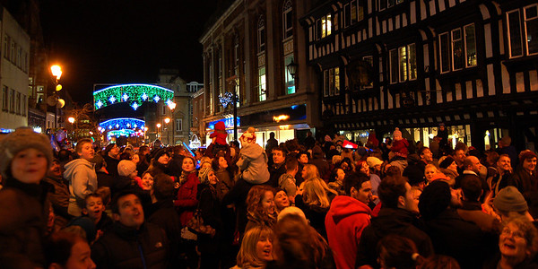 The moment the lights were switched on