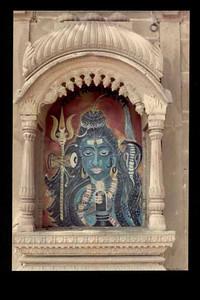 siva wall painting.varanasi SHANKAR