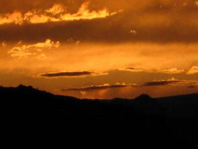 Sunset as I was heading to Zion NP, Utah.