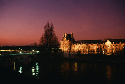 Louvre in The Last Glow of Day