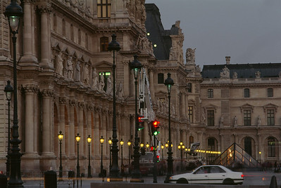 Driving by The Louvre