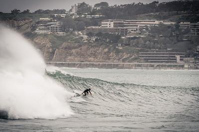 Surfing an El Niño storm surge.