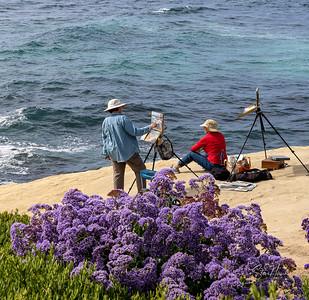 La Jolla cove , painter