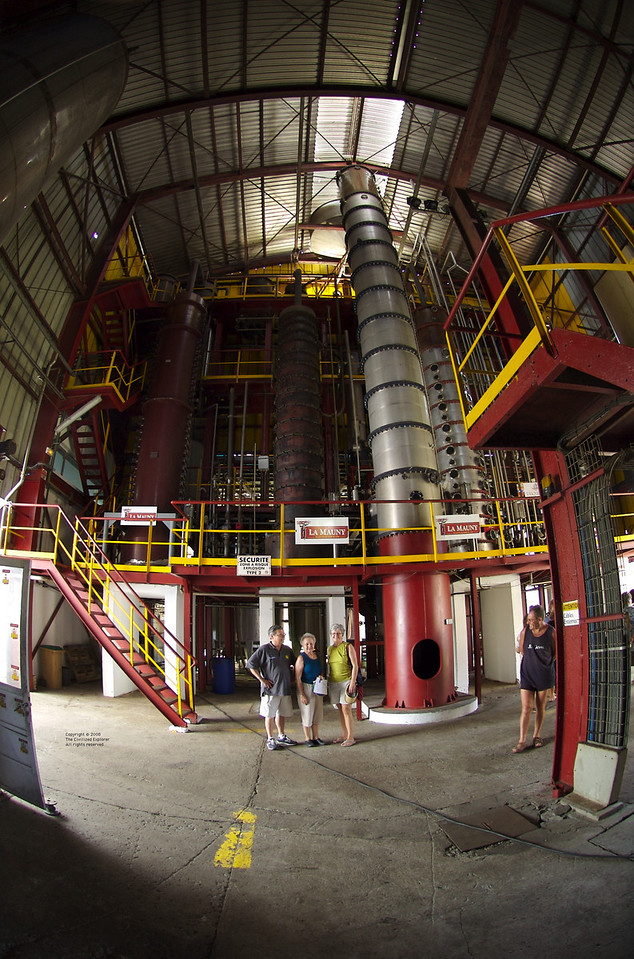 Some people show the scale of the distillation columns.