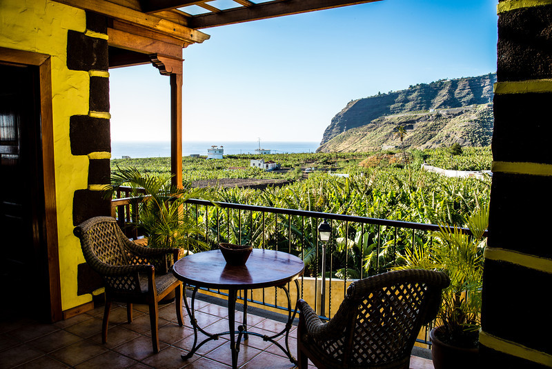 La Palma, Canary Islands<br /> View from Banana museum