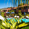 La Palma, Canary Islands<br /> Balcony overlooking pool