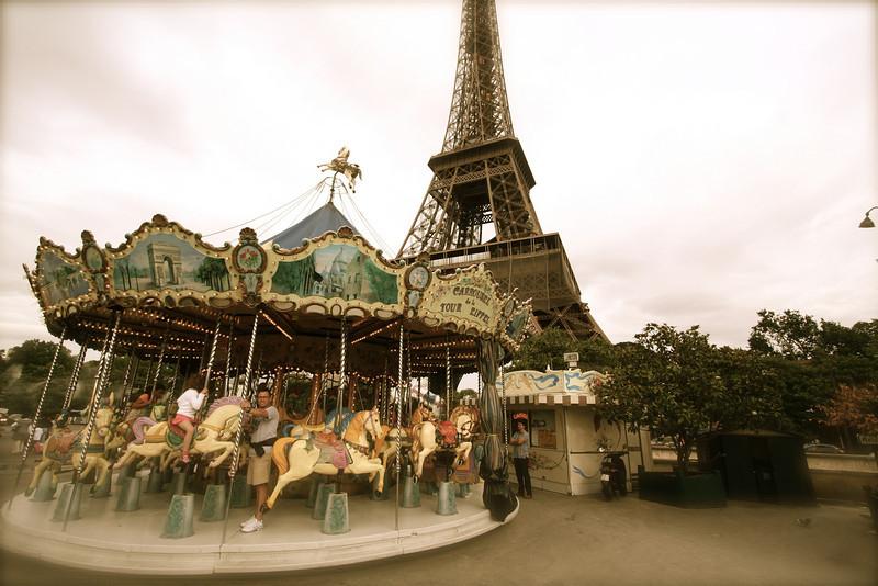 Love the carousel across the street.