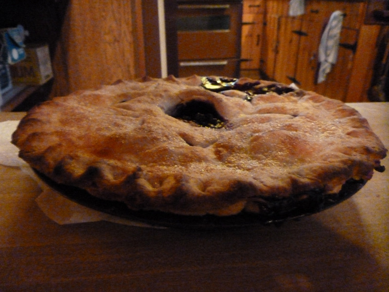 Aimee made blueberry pie.