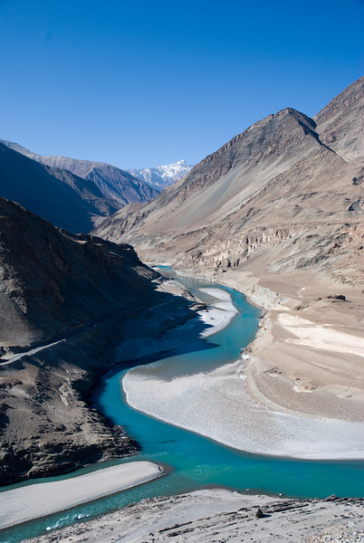 Confluence of the Zanskar and Indus R.<br /> Ladakh,India<br /> 2008