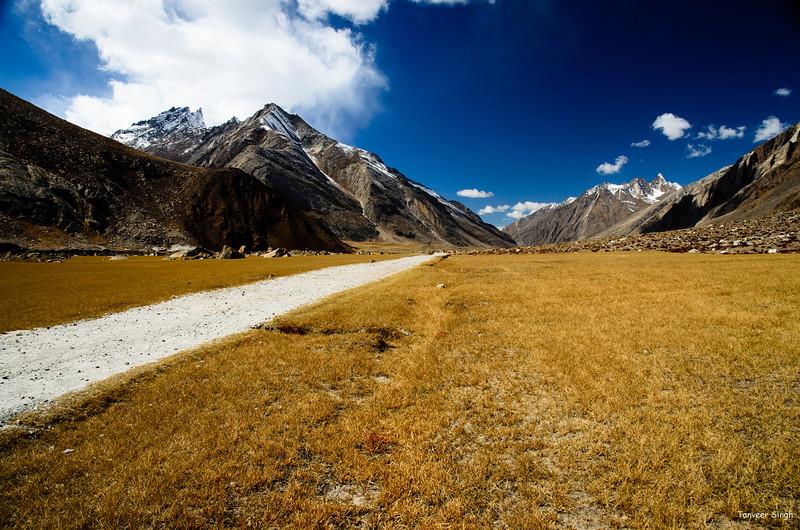 "Taken at Latitude/Longitude:34.053190/76.214788. 5.51 km East Gulmatngo Kashmir India <a href=""http://www.geonames.org/maps/google_34.053190_76.214788.html""> (Map link)</a>"